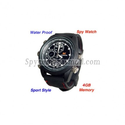 Spy Watch Cameras recoder - Waterproof Sports Spy Watch with Motion Detector (8GB)