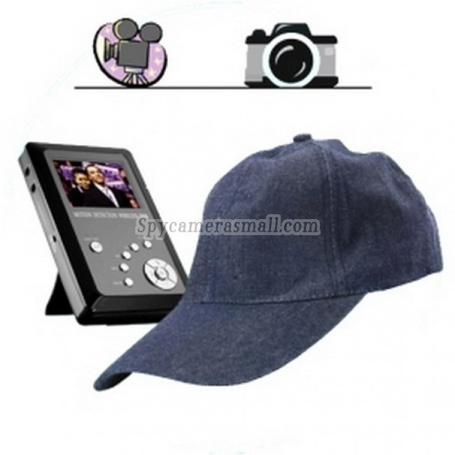 Professional wireless hidden Spy Camera - Spy Cap Hidden Recorder - Spy Kit with Camera + DVR + SD Card