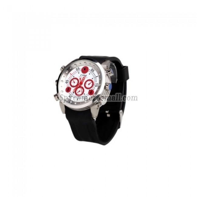 hidden Spy Watch Cameras - Waterproof Sports Watch with MP3 Player + Digital Video Recorder (8GB)