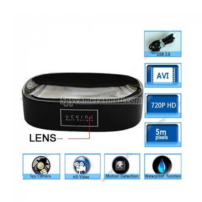 Soap Box Hidden Bathroom Spy Cams DVR - Motion Activated  Black Soap Box Camera 720P HD Bathroom Hidden Camera DVR 32GB