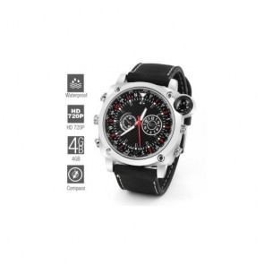 HD Waterproof Spy Watch with Extra Compass (4GB)