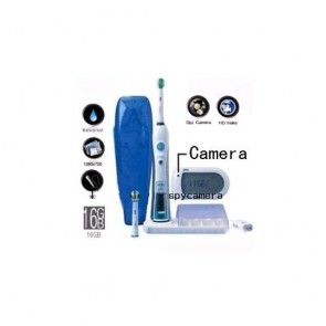 Intelligent 3D Electric Toothbrush Hidden Bathroom Spy Camera HD DVR 16GB 1280X720